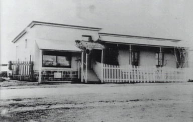 Chemist shop and home of John Hobbs at Albion Park